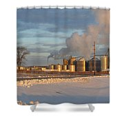 Fueling Life  Shower Curtain