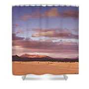 Fuerteventura Desert Landscape Shower Curtain