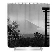 Fuji Bell Haiku Shower Curtain