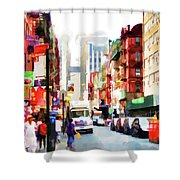 Fujianese Neighborhood Shower Curtain