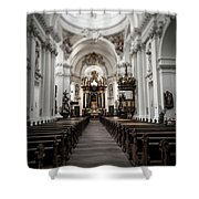 Fulda Cathedral Inside Shower Curtain