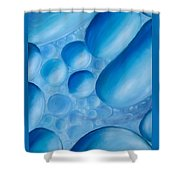 Fulfilment, Blue Abstract Art Shower Curtain