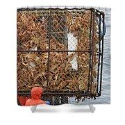 Full Crab Pot Shower Curtain
