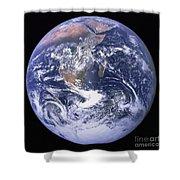 Full Earth Shower Curtain by Stocktrek Images
