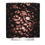 Full Frame Background Of Chocolate Chips Shower Curtain