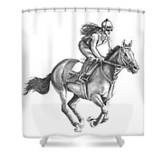 Full Gallop Shower Curtain