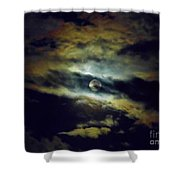 Full Moon And Clouds Shower Curtain