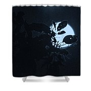 Full Moon And Tree Shower Curtain