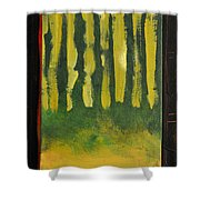 Full Moon At Dusk Shower Curtain