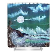 Full Moon At Sea Shower Curtain