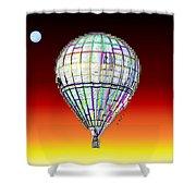 Full Moon Balloon Shower Curtain