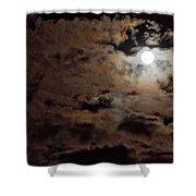 Full Moon Cloudy Night Shower Curtain