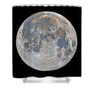 Full Moon / Day 15 Shower Curtain