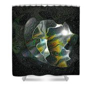 Abstract Full Moon Shower Curtain
