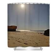 Full Moon Magic In Gale Beach Shower Curtain