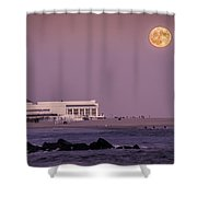 Full Moon Over Cape May Shower Curtain