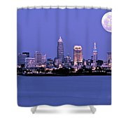 Full Moon Over Cleveland Shower Curtain