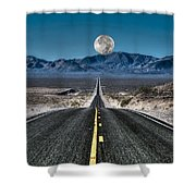 Full Moon Over Death Valley Shower Curtain