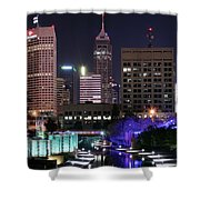Full Moon Over The Canal Shower Curtain