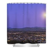 Full Moon Rising Over Silver City, New Shower Curtain