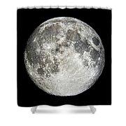 Full Moon Rising Shower Curtain