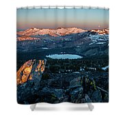 Full Moon Set Over Desolation Wilderness Shower Curtain