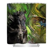 Full Moon Totems Shower Curtain