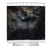 Full Moon With Clouds Shower Curtain