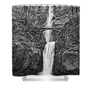 Full View Of Multnomah Falls Shower Curtain