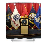 Full View Swearing In Flags Shower Curtain