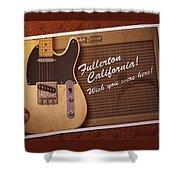 Fullerton Postcard Shower Curtain