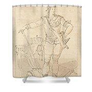 Fullfigure Portrait Of King Gustaf Shower Curtain
