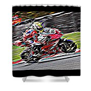 Fullspeed On Two Wheels 6 Shower Curtain