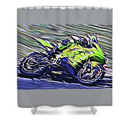 Fullspeed On Two Wheels 8 Shower Curtain