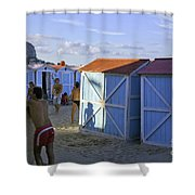 Fun At Mondello Beach Shower Curtain