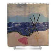 Fun Beach Day Shower Curtain