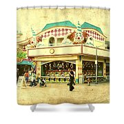 Fun House - Jersey Shore Shower Curtain by Angie Tirado