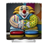 Fun House Clown Point Pleasant Nj Boardwalk Shower Curtain