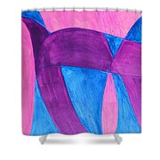 Fun In Abstract Word Art Shower Curtain
