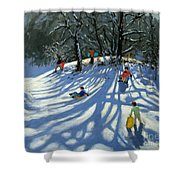 Fun in the Snow Shower Curtain by Andrew Macara