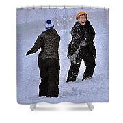 Fun In The Snow Shower Curtain