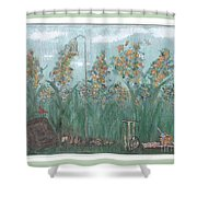 Fun In The Weeds Shower Curtain