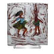 Fun Times - Tile Shower Curtain