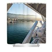 Funchal By The Ship Shower Curtain
