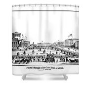 Funeral Obsequies Of President Lincoln Shower Curtain