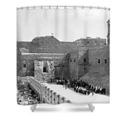 Funeral Procession In Bethlehem During 1934 Shower Curtain