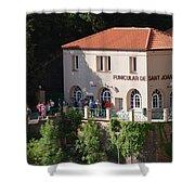 Funicular De Sant Joan Monserratt Shower Curtain