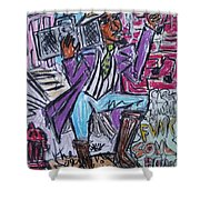 Funk Soul Brother Shower Curtain