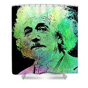 Funky Einstein  Shower Curtain