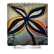 Funky Flower Shower Curtain